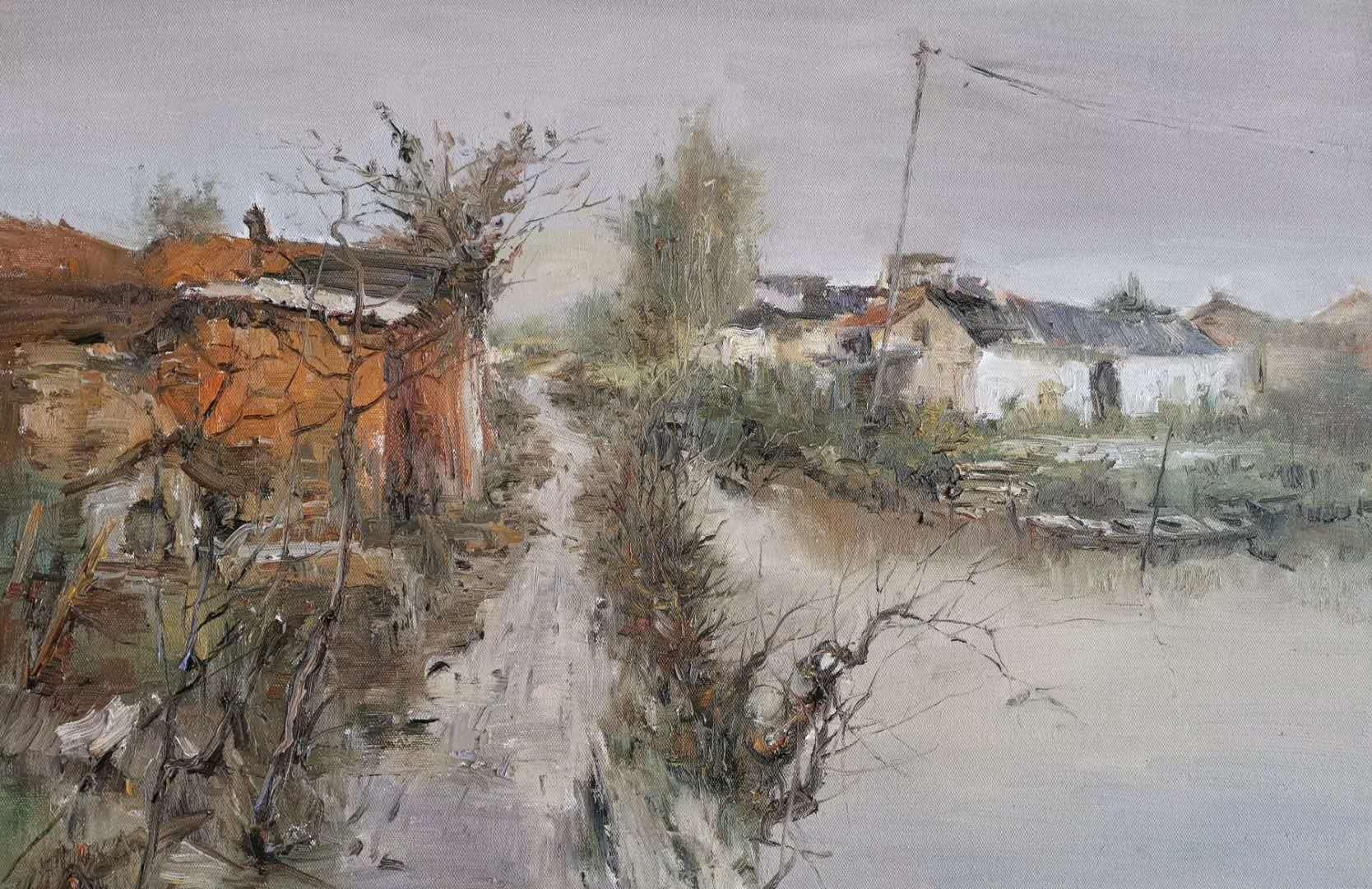 宝应籍油画家陆凤翔先生最新油画写生力作。